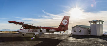 Los aviones de la nutria del gemelo DHC-6 Grimsey islandia Imagen de archivo
