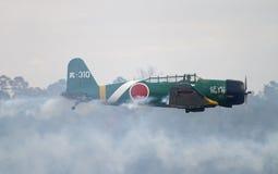 Los aviones de la Segunda Guerra Mundial promulgan de nuevo ataque del Pearl Harbor Fotografía de archivo libre de regalías