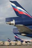 Los aviones del cargo de la compañía de Airflot Imágenes de archivo libres de regalías