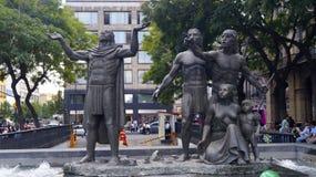 Los Aztecas descubren el lugar para su nueva escultura de la ciudad Fotografía de archivo
