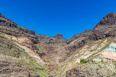 Los Azulejos (The Tile Rocks, Mountains), Gran Canaria (Grand Canary) royalty free stock image