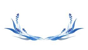 Los azules añiles dan el semicírculo exhausto, ejemplo del vector Imágenes de archivo libres de regalías