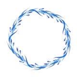 Los azules añiles dan la guirnalda exhausta, ejemplo del vector Fotos de archivo libres de regalías
