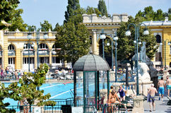 Los baños de Budapest Szechenyi fotos de archivo