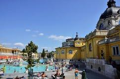 Los baños de Budapest Szechenyi fotografía de archivo