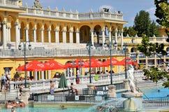 Los baños de Budapest Szechenyi imagenes de archivo