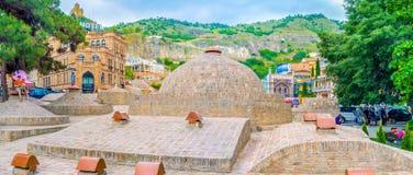 Los baños del azufre en Tbilisi Fotografía de archivo libre de regalías