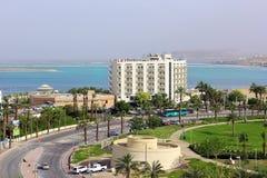 Los-Badekurort-Hotel in Ein Bokek, Totes Meer, Israel Stockfotos
