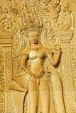Los bailarines de Apsara adornan las paredes interiores Fotografía de archivo libre de regalías