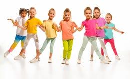 Los bailarines de la escuela de danza de los niños, del ballet, de hiphop, de la calle, enrrollados y modernos Fotografía de archivo libre de regalías