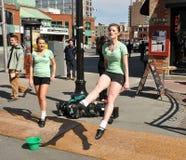 Los bailarines irlandeses se realizan el día del St. Patrick Fotografía de archivo libre de regalías