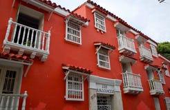 Los Balcones de Cartagena royaltyfria bilder