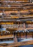 Los barcos de rowing en la orilla de Derwent riegan, Keswick Foto de archivo libre de regalías