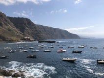 Los barcos de Tenerife imagenes de archivo