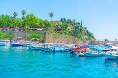 Los barcos en el puerto deportivo de Antalya Imagen de archivo