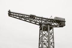 Los barcos voladizos del edificio de Finnieston Crane River Clyde de la construcción naval envían el indust tradicional de Glasgo foto de archivo libre de regalías