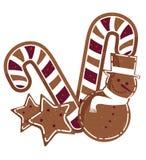 Los bastones de caramelo diseñan ilustración del vector