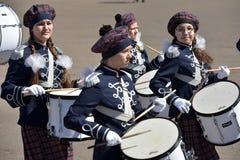 Los baterías en el desfile Fotografía de archivo libre de regalías