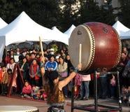 Los baterías japoneses se realizan Foto de archivo libre de regalías