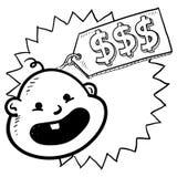 Los bebés son bosquejo costoso Imágenes de archivo libres de regalías