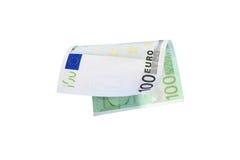 Los billetes de banco euro se cierran para arriba, moneda europea Foto de archivo libre de regalías