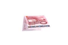 Los billetes de banco euro se cierran para arriba, moneda europea Imagen de archivo