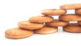 Los biscuts deliciosos presentaron por etapas Fotos de archivo libres de regalías