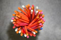 Los Bleistifte, Briefpapier, ein Schreibwarengeschäft Lizenzfreie Stockfotos