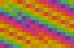 Los bloques abstractos cuadrados coloridos del contraste del fondo del mosaico pican la base roja verde amarilla del modelo de la fotos de archivo libres de regalías
