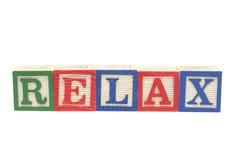 Los bloques del alfabeto - relájese Imagen de archivo libre de regalías