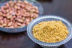 Los bocados diarios sanos sabrosos de la comida de la nuez de tierra comen Fotografía de archivo libre de regalías
