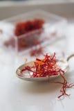 Los bocados diarios sanos sabrosos de la comida del azafrán comen Imagen de archivo libre de regalías