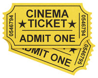 Los boletos del cine Imagenes de archivo