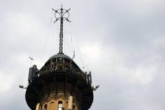Los bomberos se elevan en Moscú, en 1880 es construido imagen de archivo