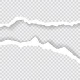 Los bordes de papel rasgados, fondo inconsútil texturizan horizontalmente, vector aislados en el espacio para hacer publicidad, b Imagenes de archivo