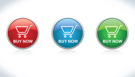 Los botones compran (agregue al carro) ilustración del vector