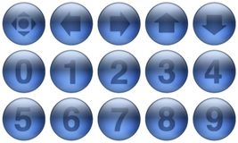 Los botones de cristal fijaron 5 Imagen de archivo libre de regalías