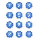 Los botones del azul Fotografía de archivo