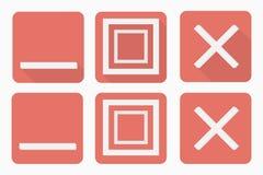 Los botones del web fijaron en estilo plano con y sin sombra libre illustration