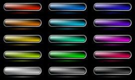 Los botones fijaron 3 (en negro) stock de ilustración
