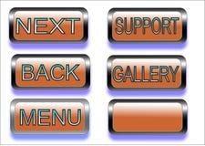 Los botones, ilustration, botón envían para el web stock de ilustración
