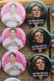 Los botones para la resistencia se colocan en Washington Square en Lower Manhattan Foto de archivo libre de regalías