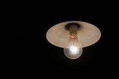 Los bulbos incandescentes de la ejecución aislados en la tierra negra Imagen de archivo