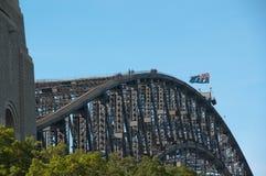 Escaladores del puente de puerto de Sydney, Australia Fotografía de archivo