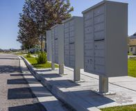 Los buzones sombrean en complejo de apartamentos en Utah Imagen de archivo libre de regalías