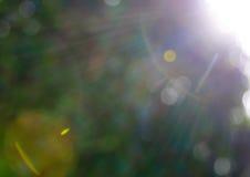 Los círculos abstractos del sol y de la lente señalan por medio de luces - fondo Fotografía de archivo libre de regalías