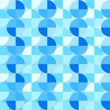 Los círculos azules brillantes inconsútiles del extracto modelan en fondo azul claro stock de ilustración