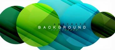 Los círculos coloridos brillantes resumen el fondo, diseño geométrico moderno libre illustration