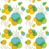 Los círculos grandes del vector y pequeños coloridos resumen el fondo inconsútil del modelo stock de ilustración