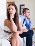 Los cónyuges que tienen malo discuten Fotografía de archivo